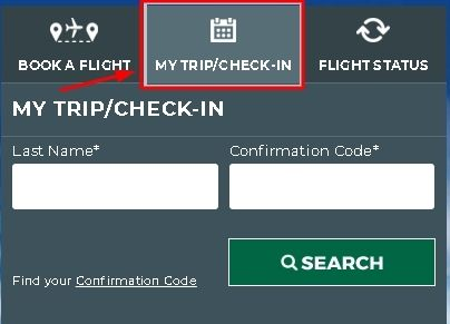 Frontier Airlines Online Check-in