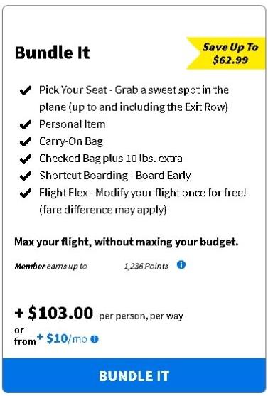 Spirit Airlines Bundle It