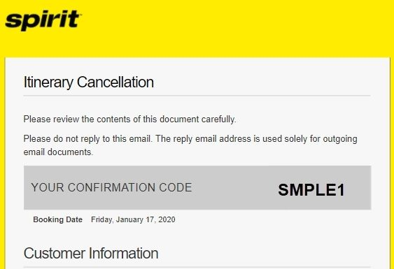 Spirit Airlines Reservation Credit