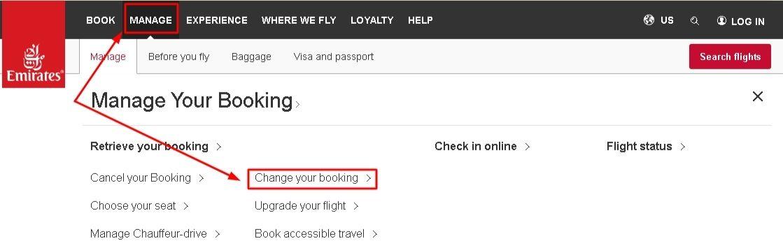 Change Emirates Flight Booking